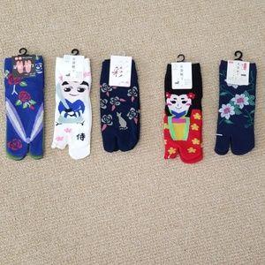 Japanese toe socks